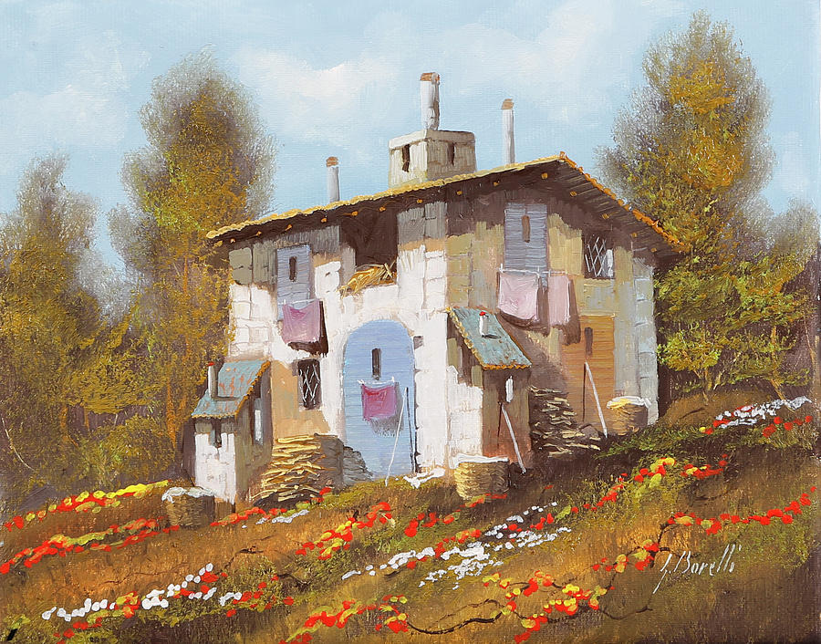 Little House Painting - Casa Uno by Guido Borelli