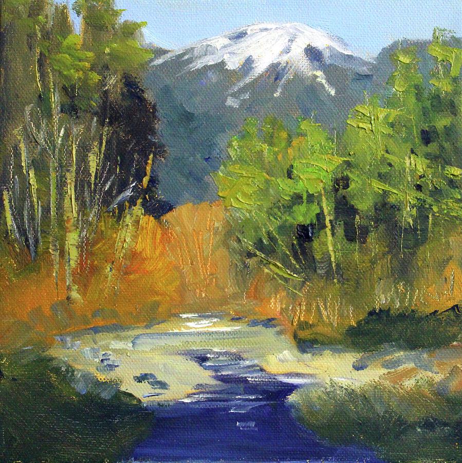 Cascade Mountain River by Nancy Merkle