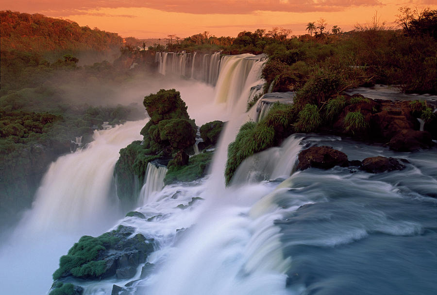 Cascades Of The Iguacu Falls, The Photograph by Thomas Marent/ Minden Pictures