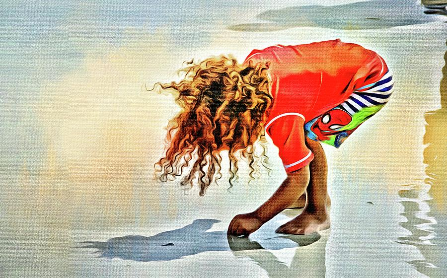 Cascading Curls On The Beach by Alice Gipson