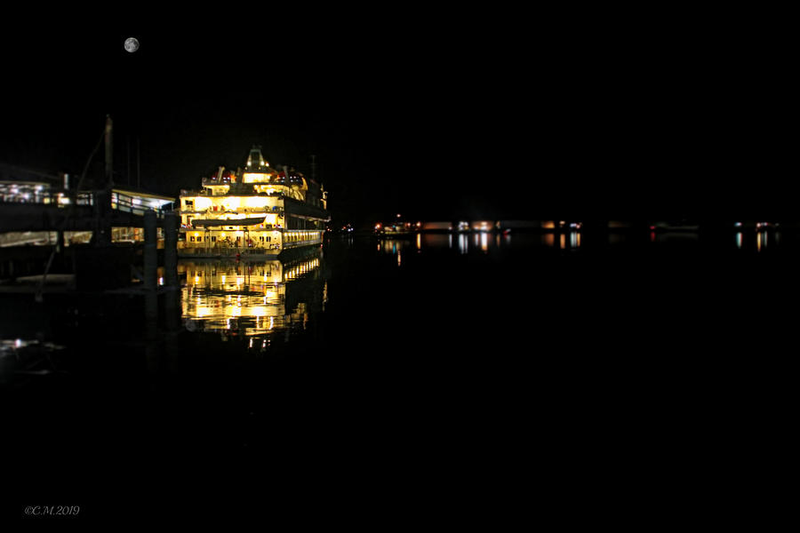 Casco Bay Night Cruise Photograph