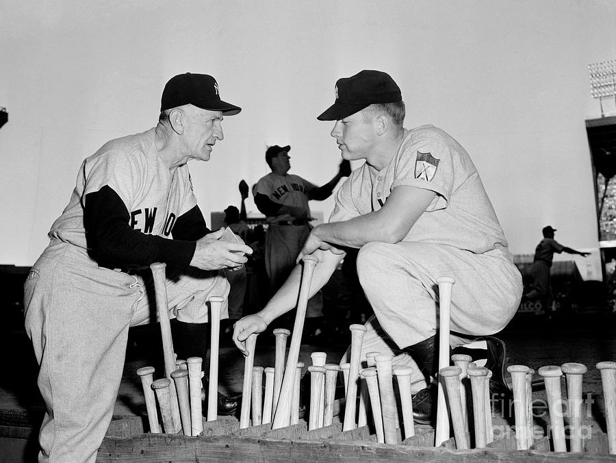 Casey Stengel And Mickey Mantle Photograph by Bettmann