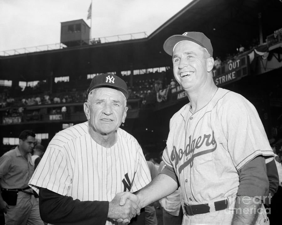 Casey Stengel And Walter Aston Photograph by Bettmann
