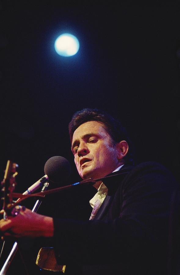 Cash Performs At Newport Photograph by Michael Ochs Archives