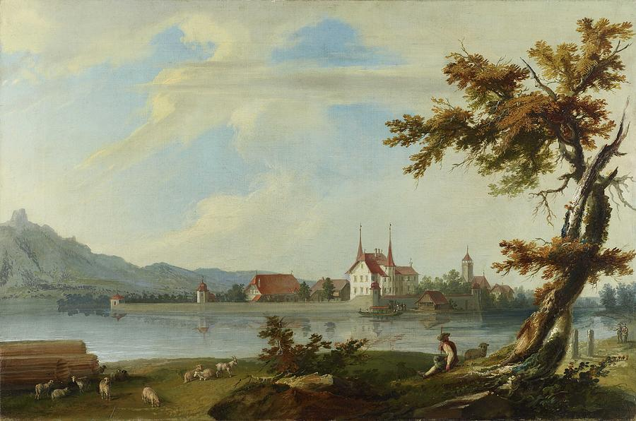 Caspar Wolf - Island Schadau Painting