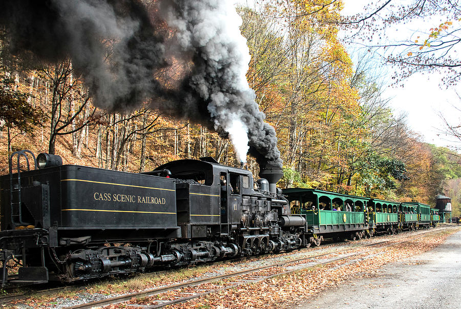 Color Photograph - Cass Scenic Railroad 17 2 by Robert Michaud