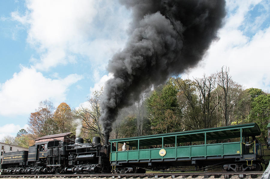 Color Photograph - Cass Scenic Railroad 17 3 by Robert Michaud