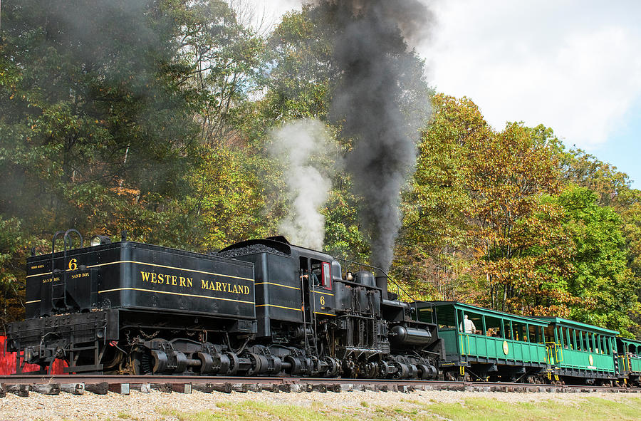 Color Photograph - Cass Scenic Railroad 17 5 by Robert Michaud
