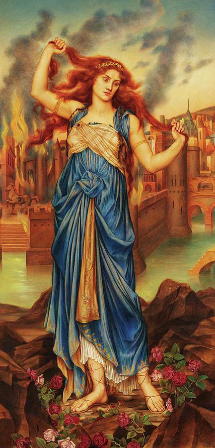 Evelyn De Morgan Painting - Cassandra, 1898 by Evelyn De Morgan