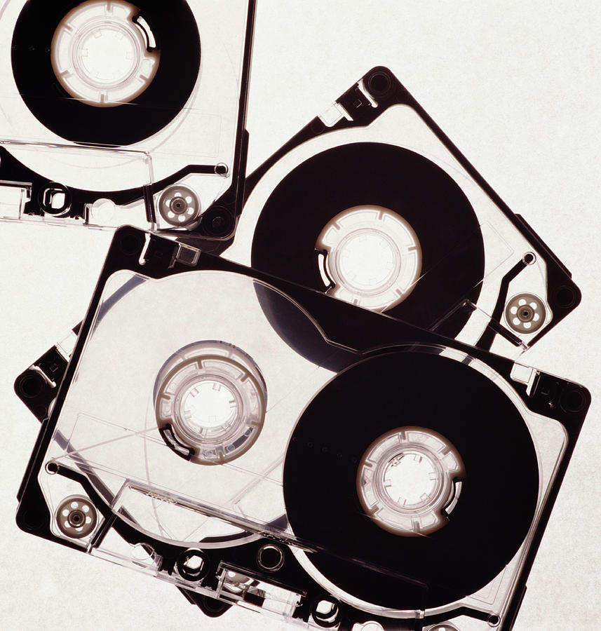 Cassette Tapes, Overhead View Photograph by Hans Neleman