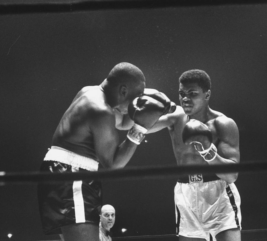 Cassius Clay And Doug Jones Photograph by George Silk