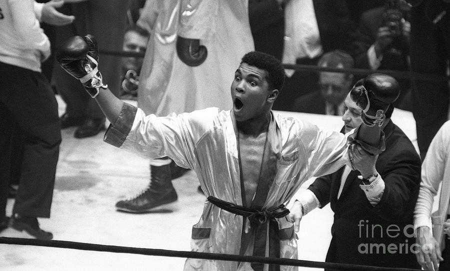 Cassius Clay Vs Doug Jones Photograph by The Stanley Weston Archive