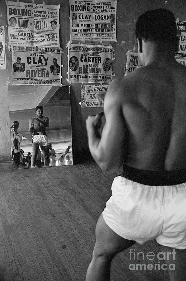 Cassius Clay Watching Himself Photograph by Bettmann