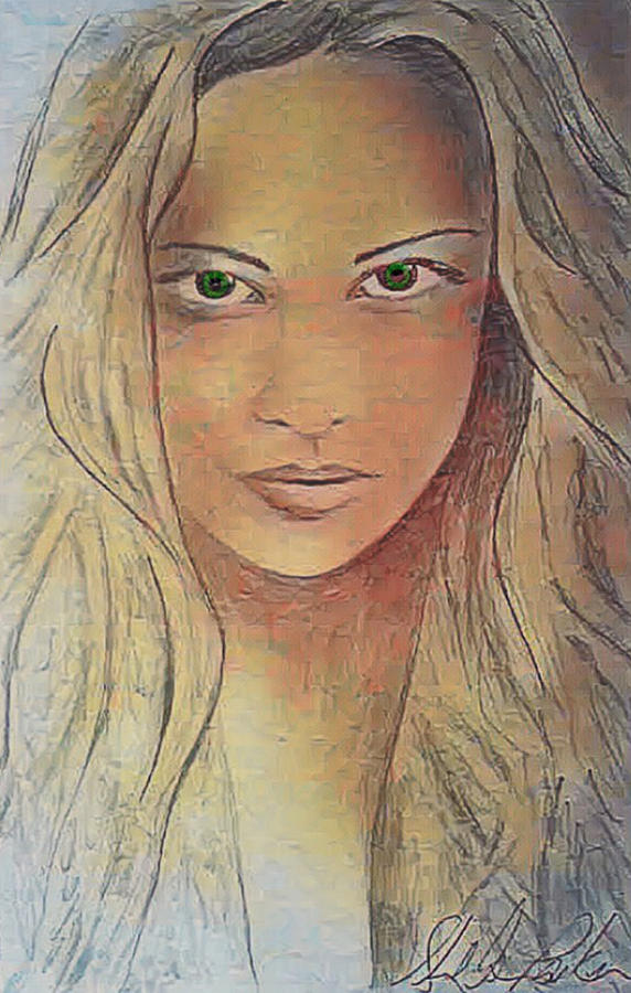 Sketch Digital Art - Cassy Blakemore by Sheila Renee Parker