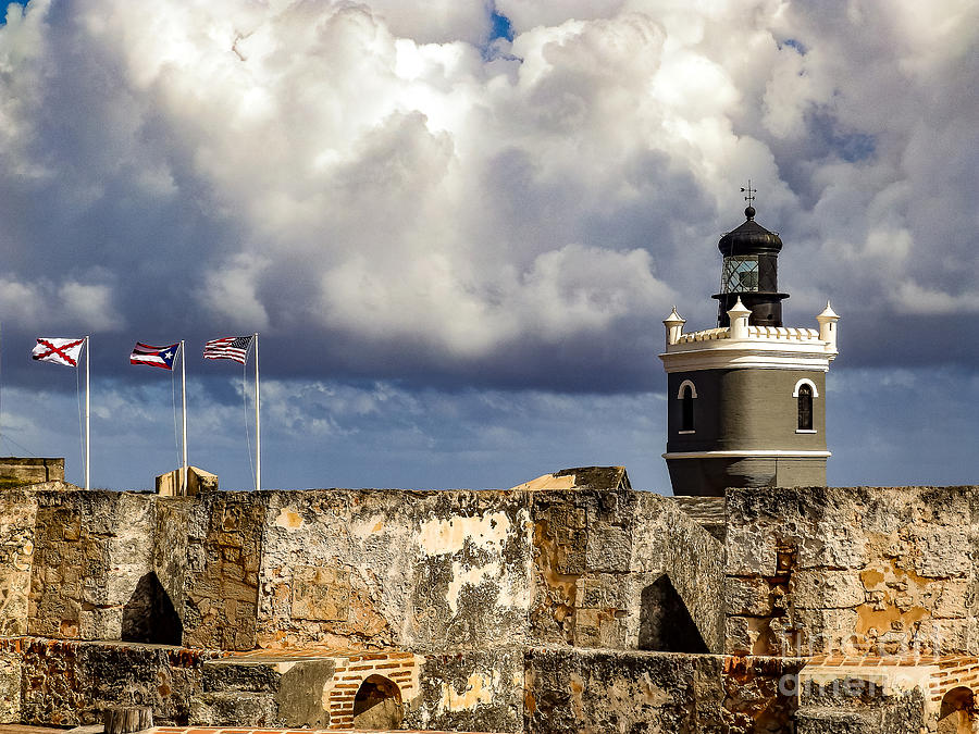 San Juan Photograph - Castillo San Felipe del Morro Lighthouse San Juan, Puerto Rico  by G Matthew Laughton