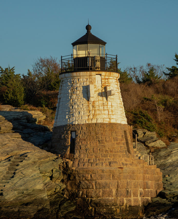 Castle Hill Lighthouse Photograph - Castle Hill Lighthouse by Eleanor Bortnick