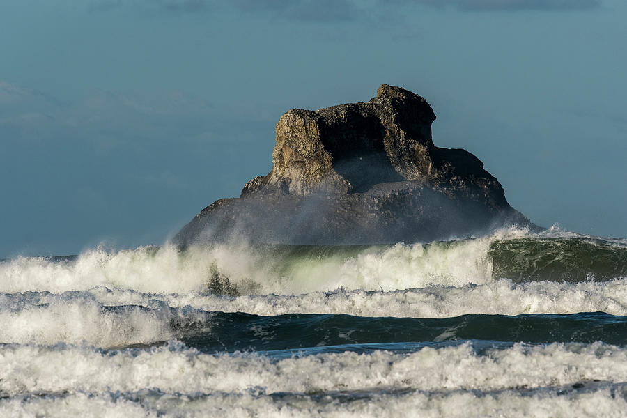 Castle Rock and Surf by Robert Potts