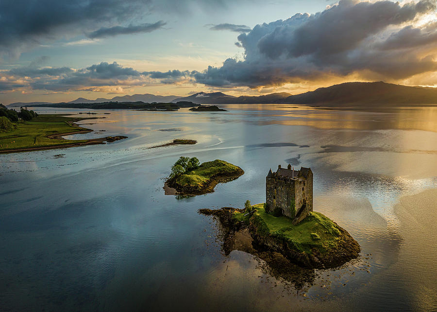 Castle Stalker Sunset Photograph