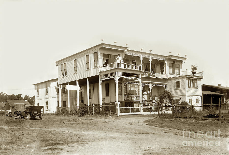 Castle Sun Ray Apartments 207 1/2 Monroe Street, Monterey 1922 by California Views Archives Mr Pat Hathaway Archives