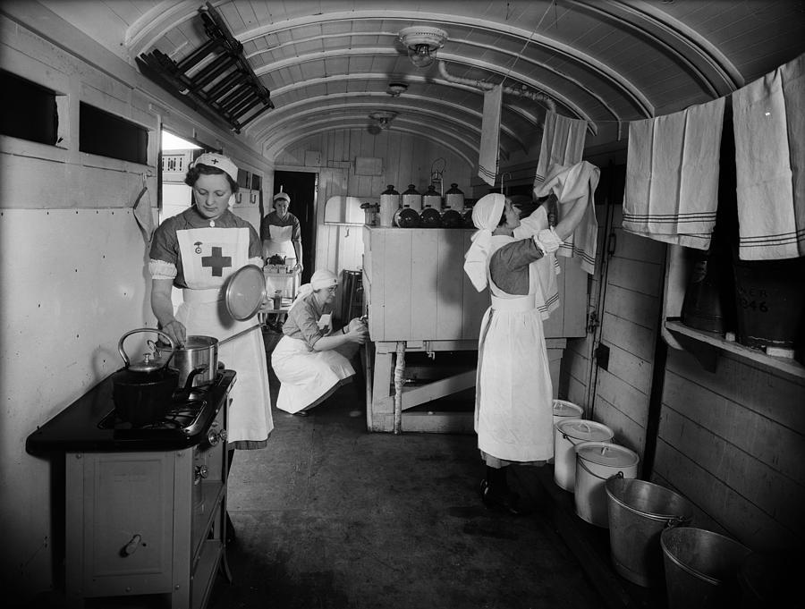 Casualty Train Photograph by Fox Photos