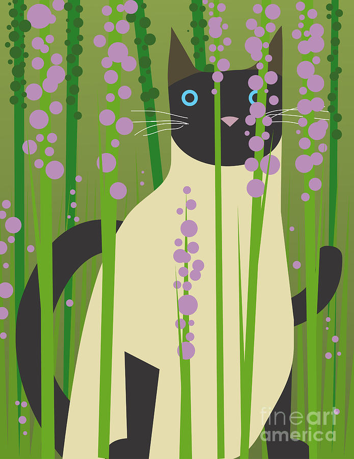 Gardenia Digital Art - Cat Look 4 by Artistan
