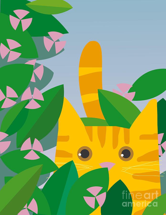Play Digital Art - Cat Look 7 by Artistan