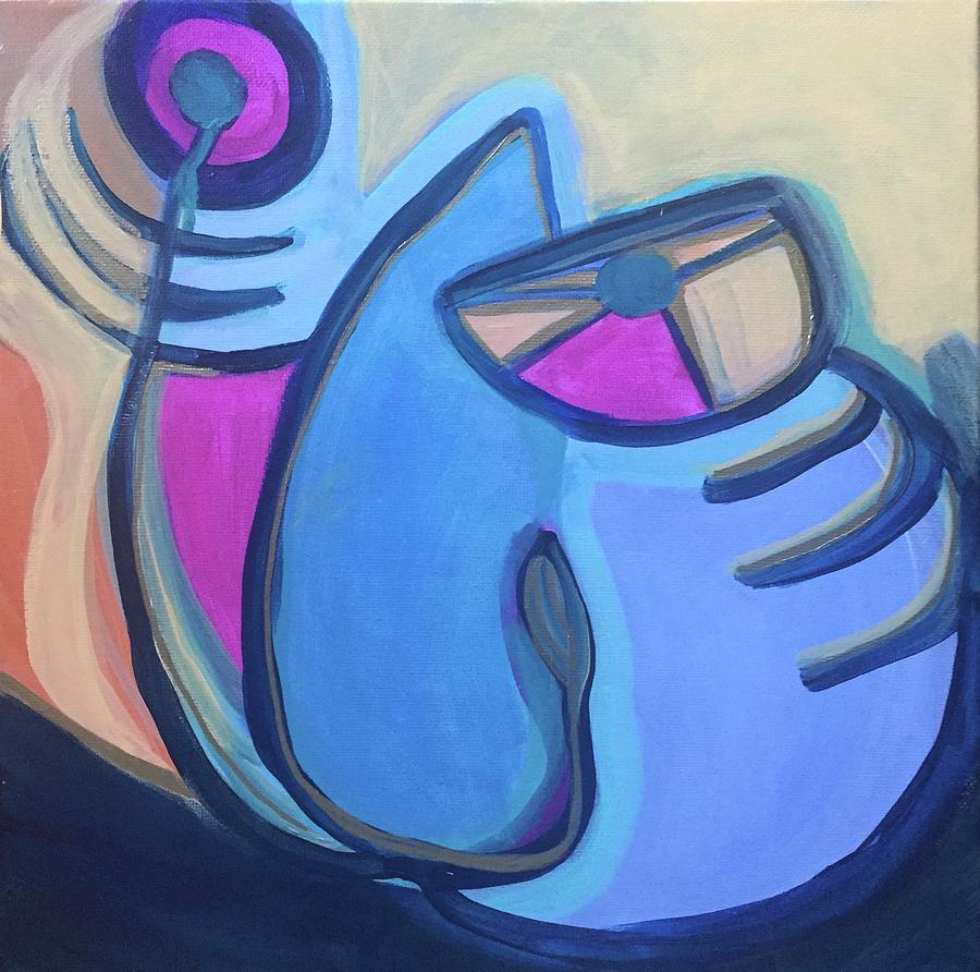 Cat with Fishbone by Cherylene Henderson