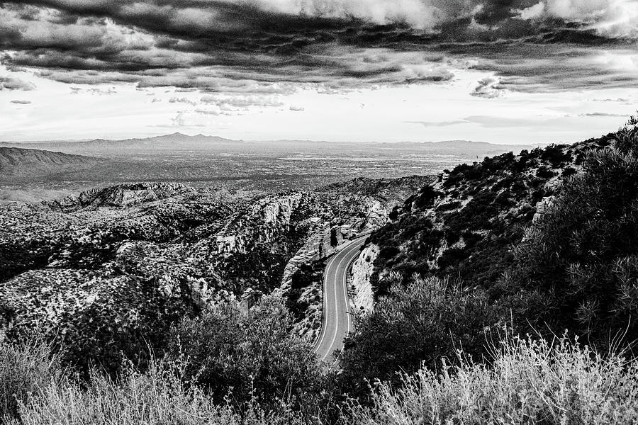 Catalina Highway Black and White, Tucson by Chance Kafka