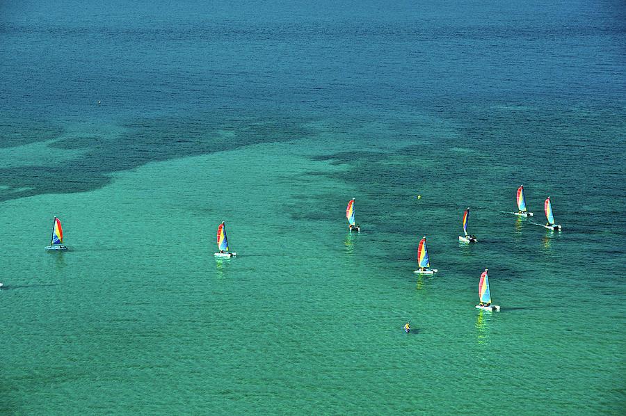 Catamarans, Catseye Bay, Hamilton Photograph by Robin Smith