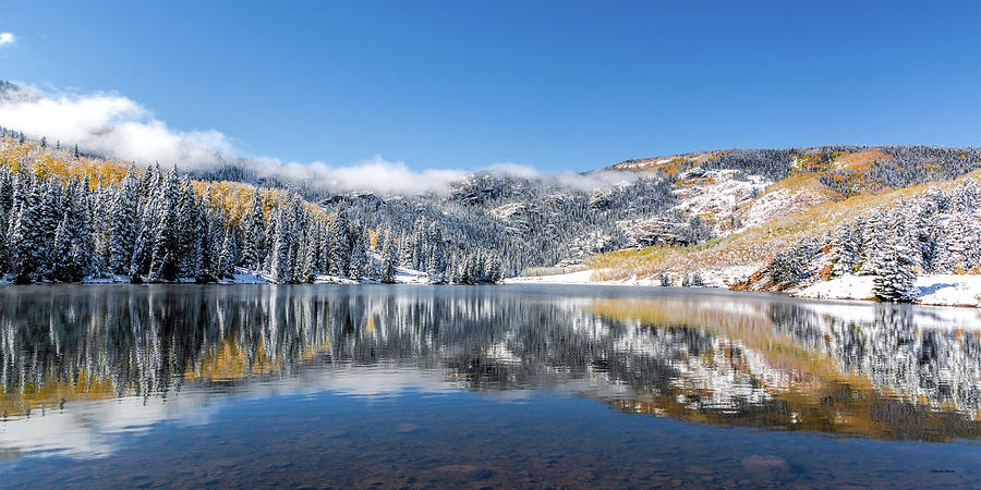Cataract Lake After the Snow by Stephen Johnson