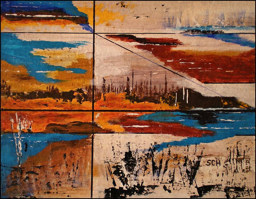 Abstract Painting - Catch A Ride To The End Of The Highway by Scott Haley