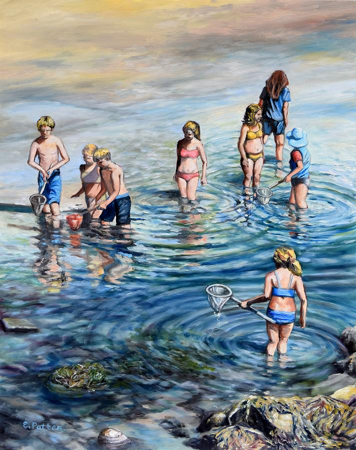Catching Minnows By The Shore by Eileen Patten Oliver