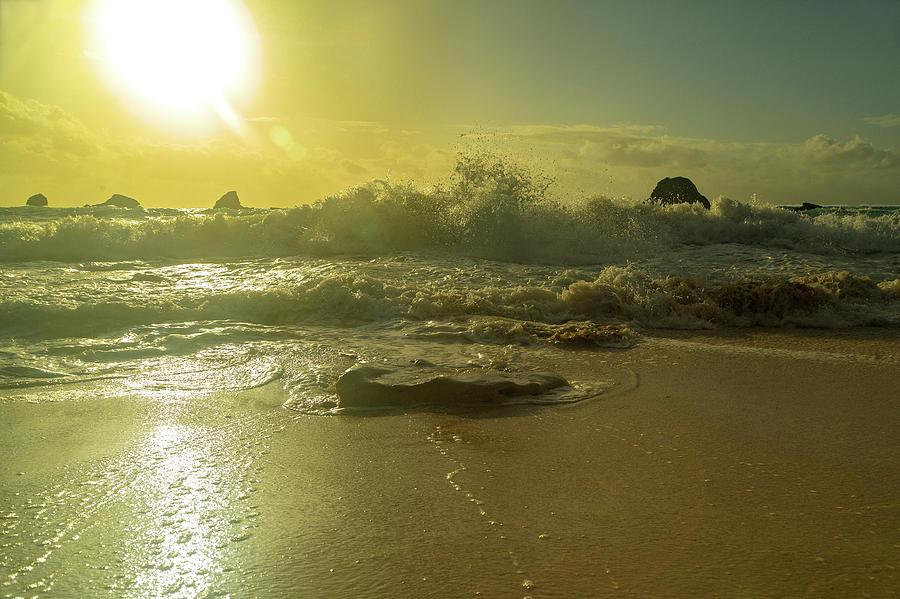 Sunrise Photograph - Catching The Spirit Sun Coastal Sunrise by Betsy Knapp