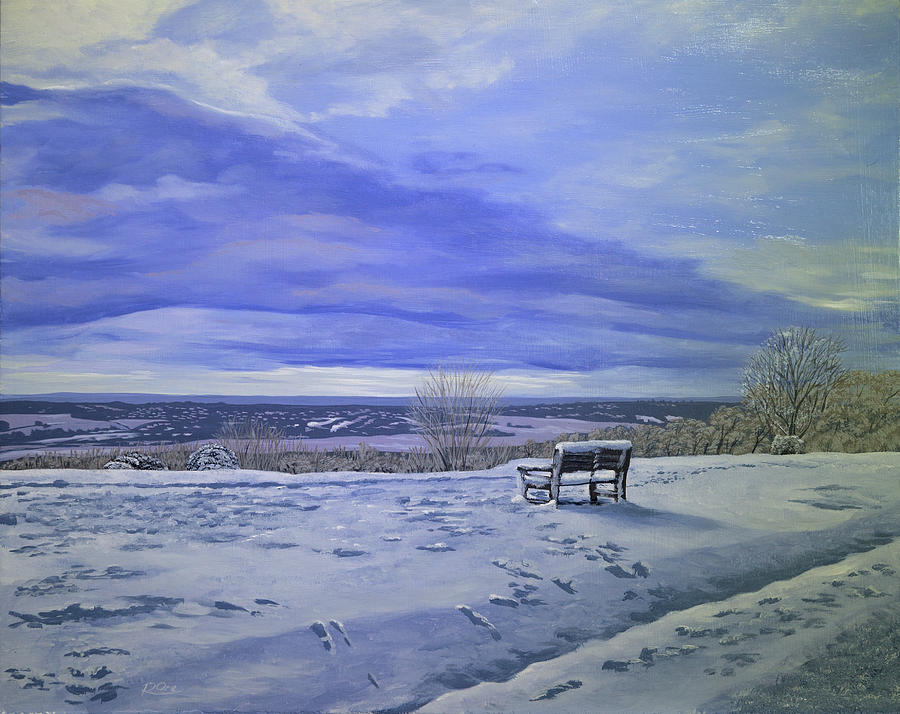 Landscape Painting - Caterham Viewpoint by Raymond Ore