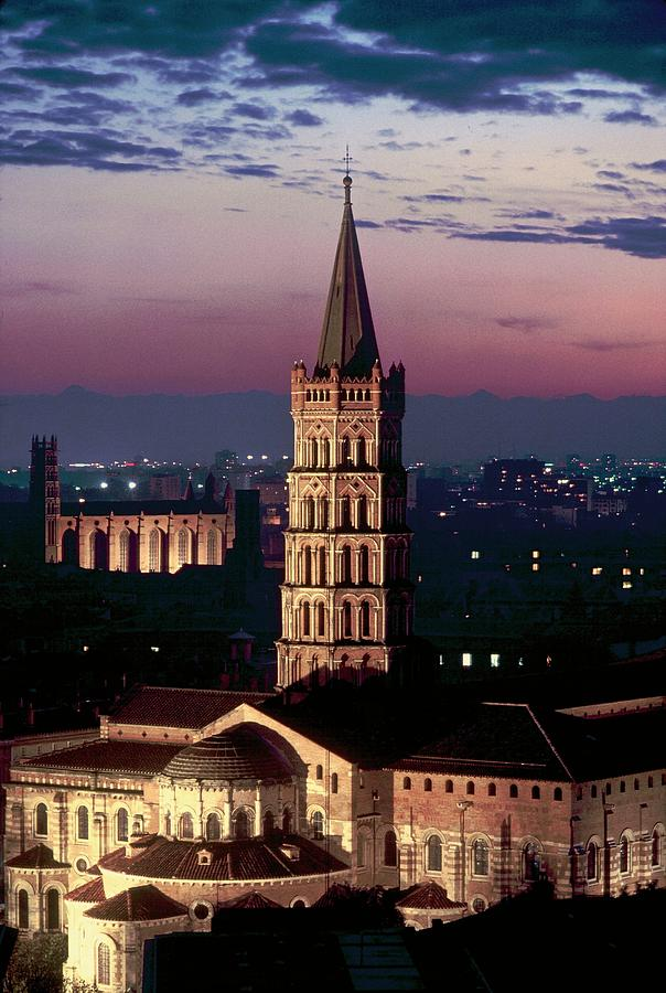 Cathar Country Saint-sernin Basilica In Photograph by Gerard Sioen