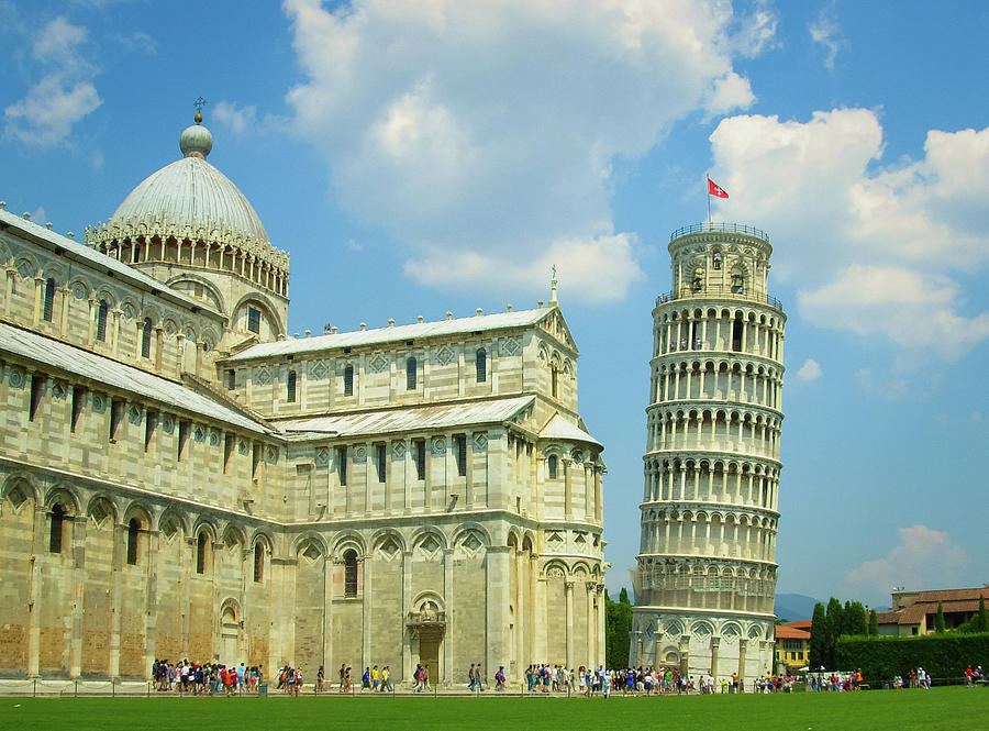 Cathedral And The Leaning Tower Of Pisa Photograph by Carla Siqueira
