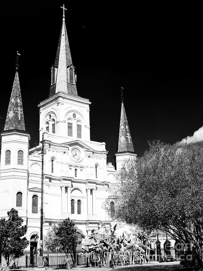 Cathedral-Basilica of Saint Louis Profile in New Orleans by John Rizzuto