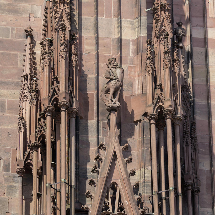 Alsace Photograph - Cathedral Chimera by Teresa Mucha