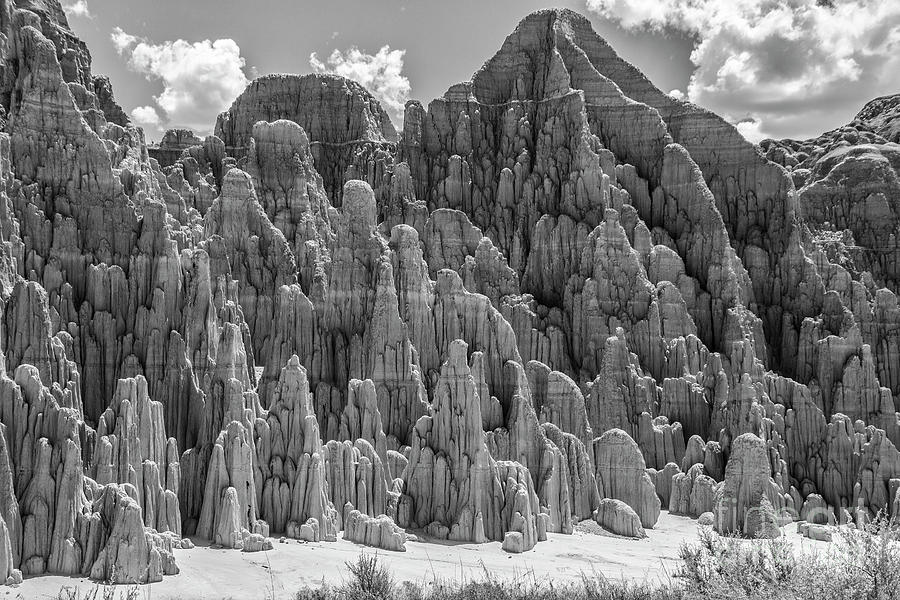 Cathedral Gorge in Black and White by Kathy McClure