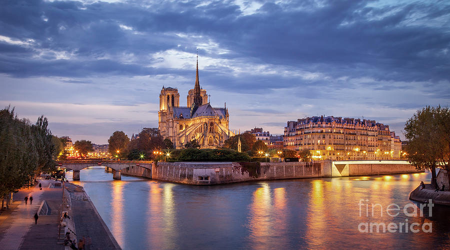 Cathedral Notre Dame and River Seine by Brian Jannsen
