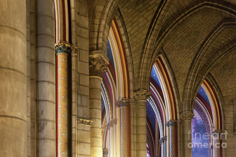 Cathedral Notre Dame Columns III by Brian Jannsen