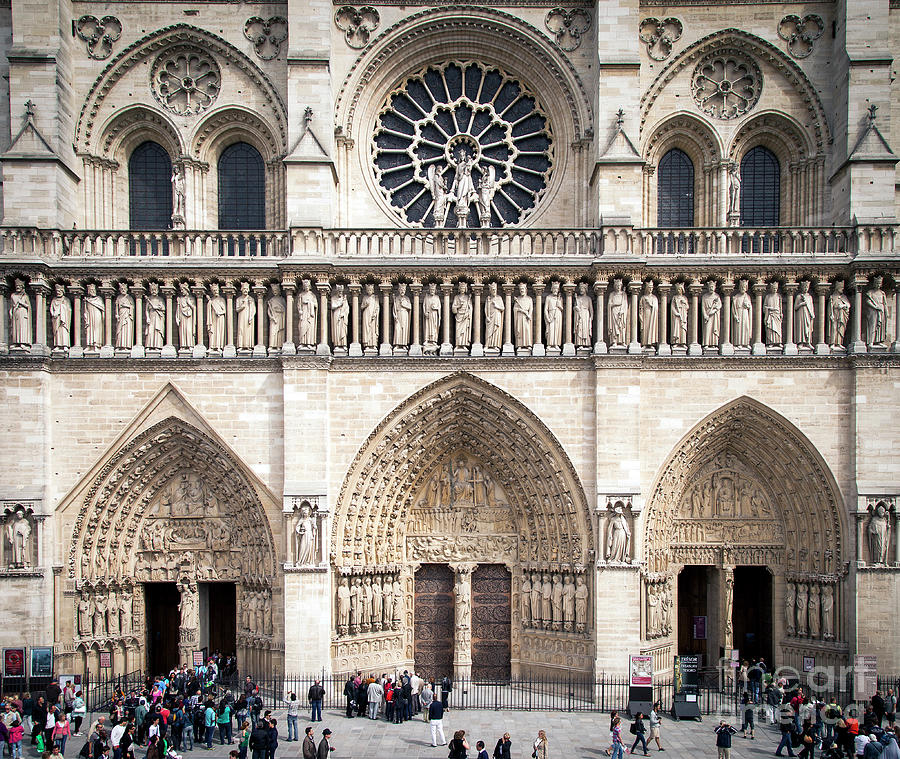 Cathedral Notre Dame Entrance by Brian Jannsen