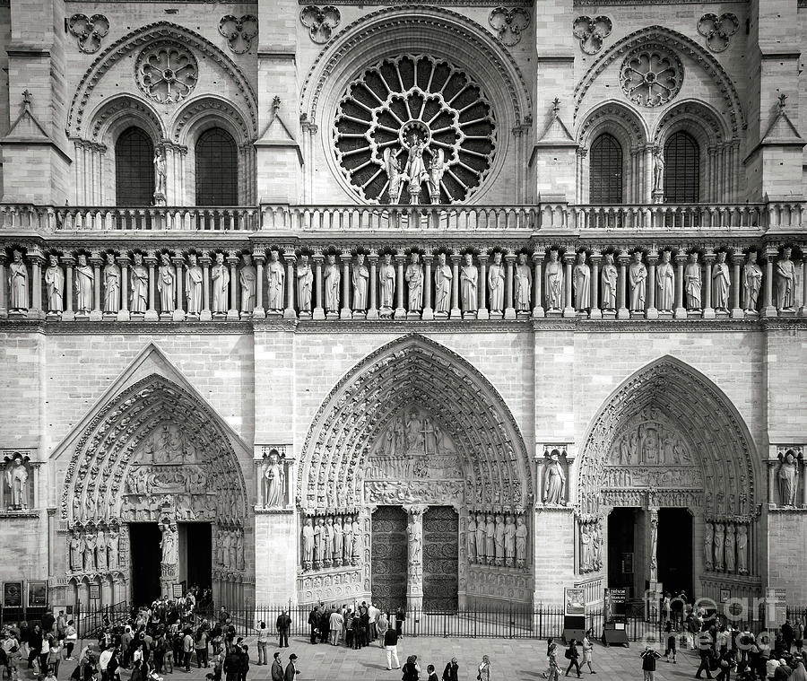 Cathedral Notre Dame Entrance II by Brian Jannsen