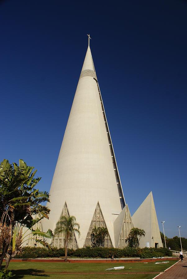 Cathedral Of Maringa Photograph by Jose Fernando Ogura/curitiba/brazil