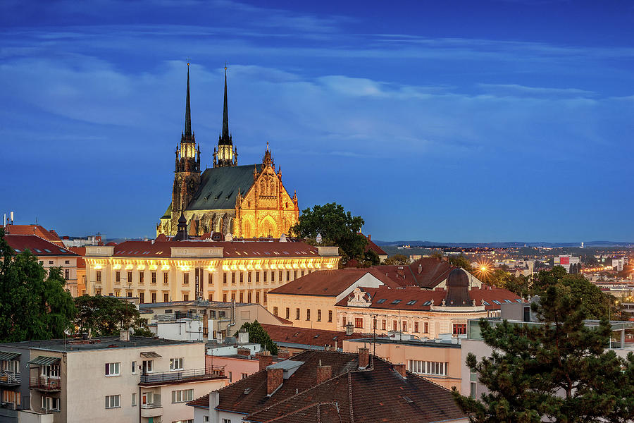 Brno Photograph - Cathedral of St. Peter and Paul by Andrei Dima
