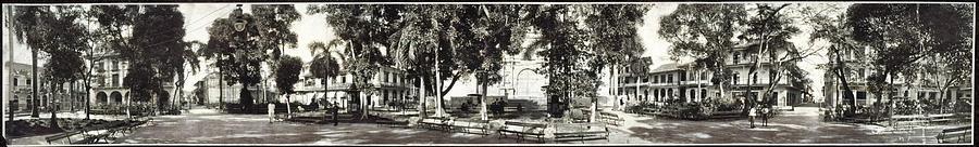 Cathedral Plaza, Panama City, Panama 1909 Painting