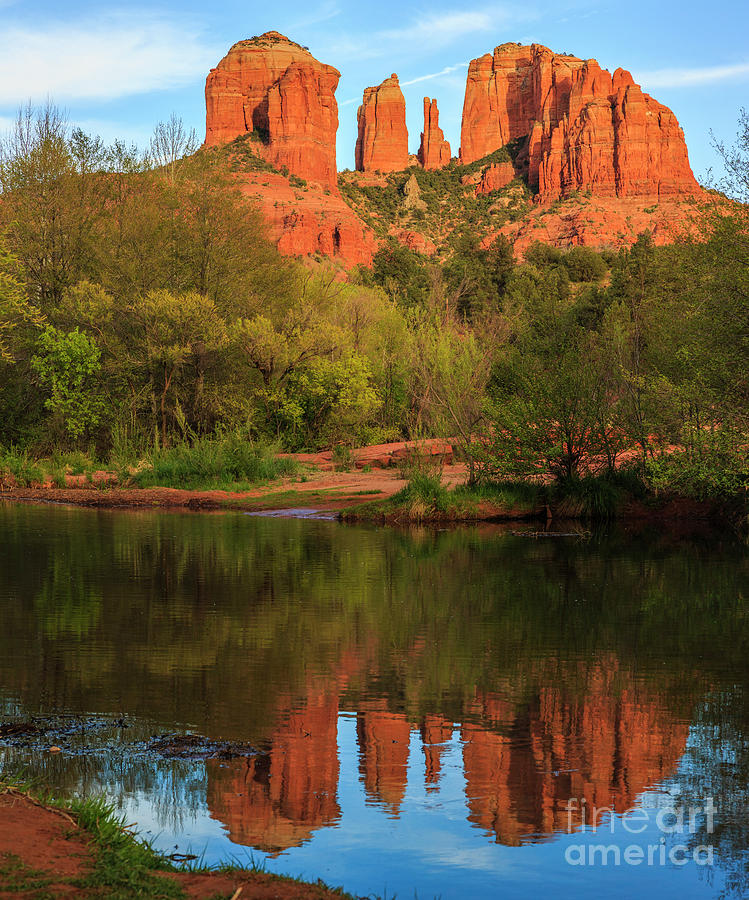 Cathedral Rock Oak Creek reflection by Ken Brown