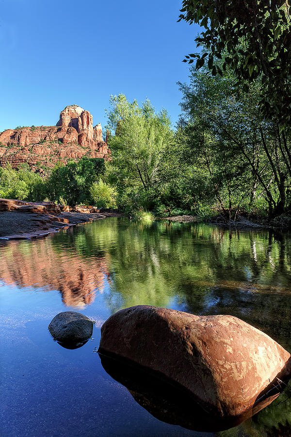 Cathedral Rock Reflection Photograph