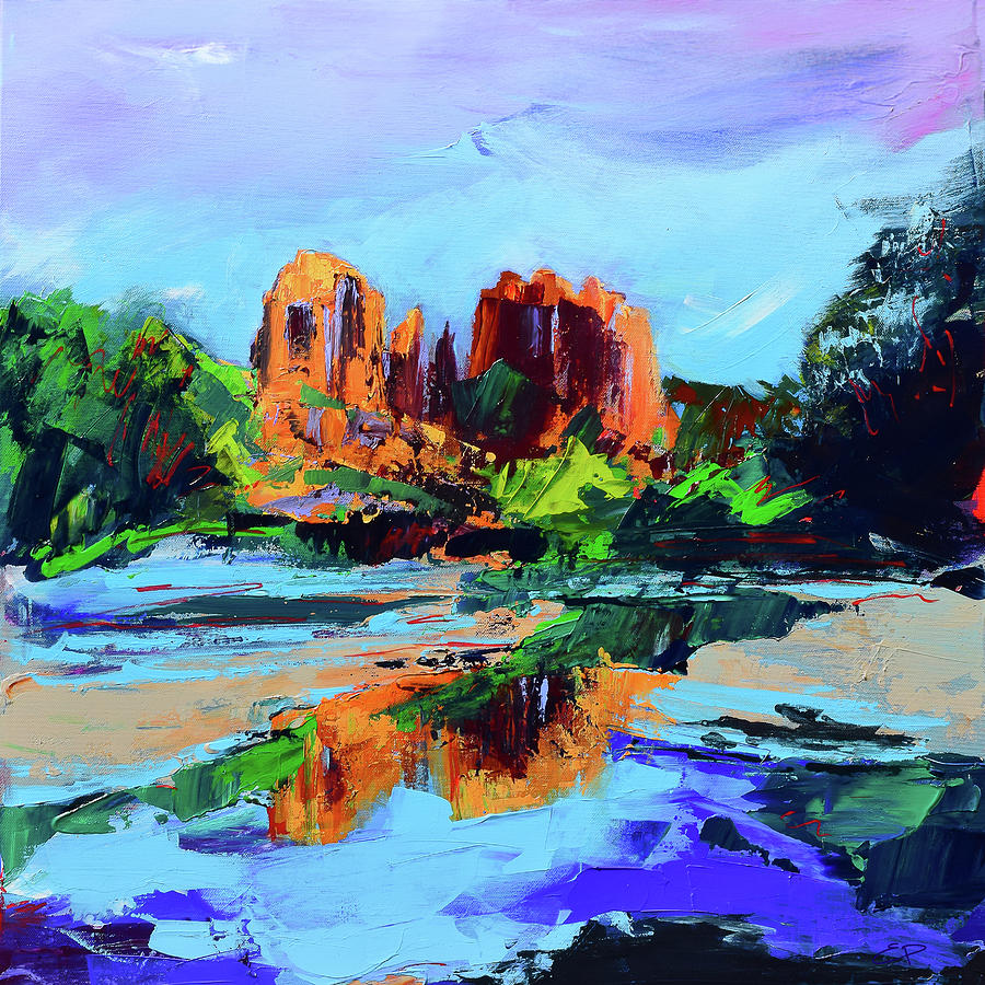 Cathedral Rock - Sedona - Square version by Elise Palmigiani