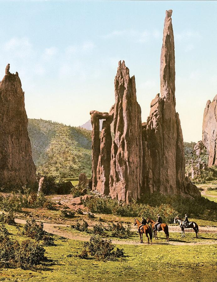 Cathedral Spires,  Colorado Springs, Colorado  Colorized By Ahmet Asar Painting